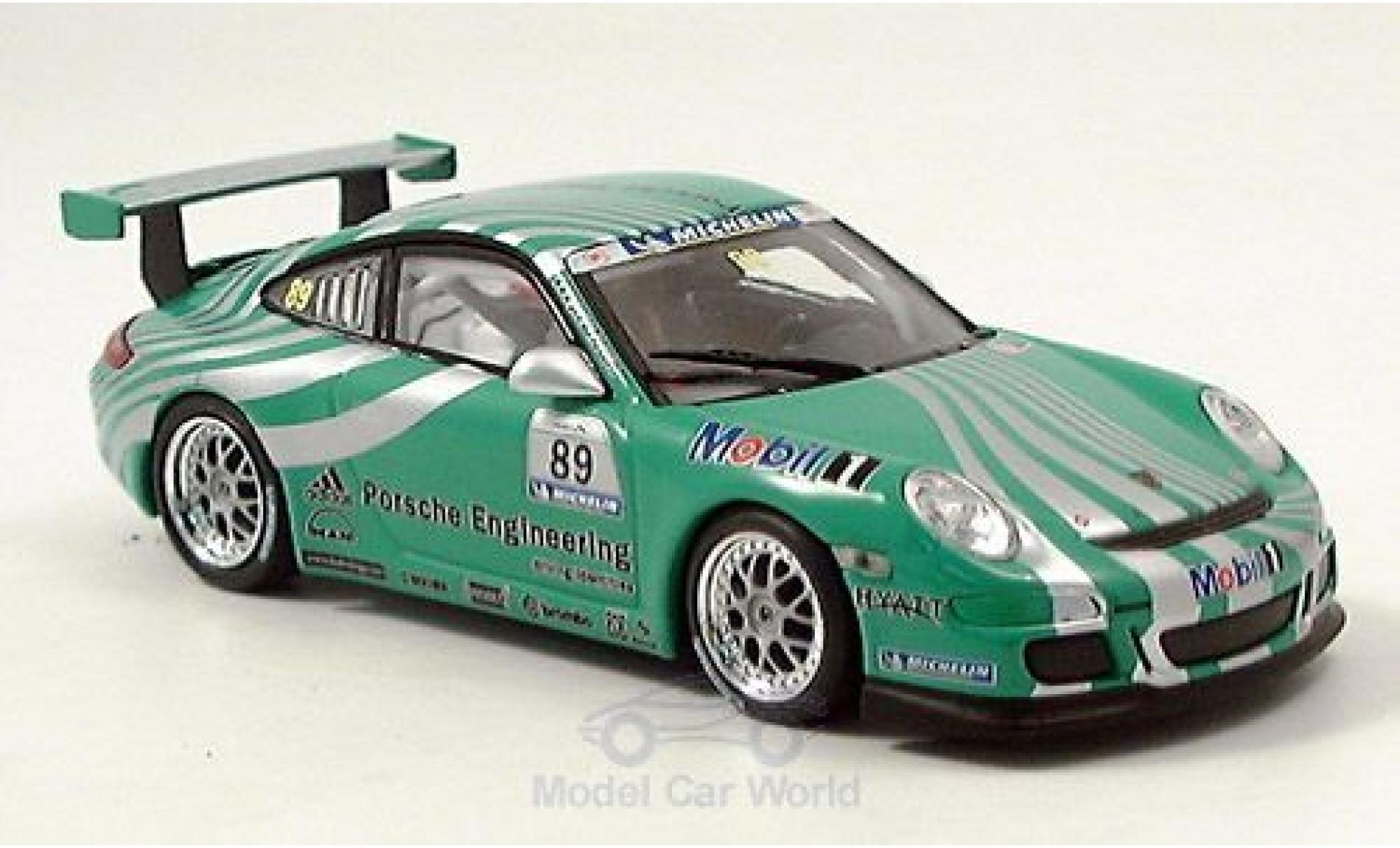 Porsche 997 GT3 1/43 Minichamps 911  verte No.89 RAC