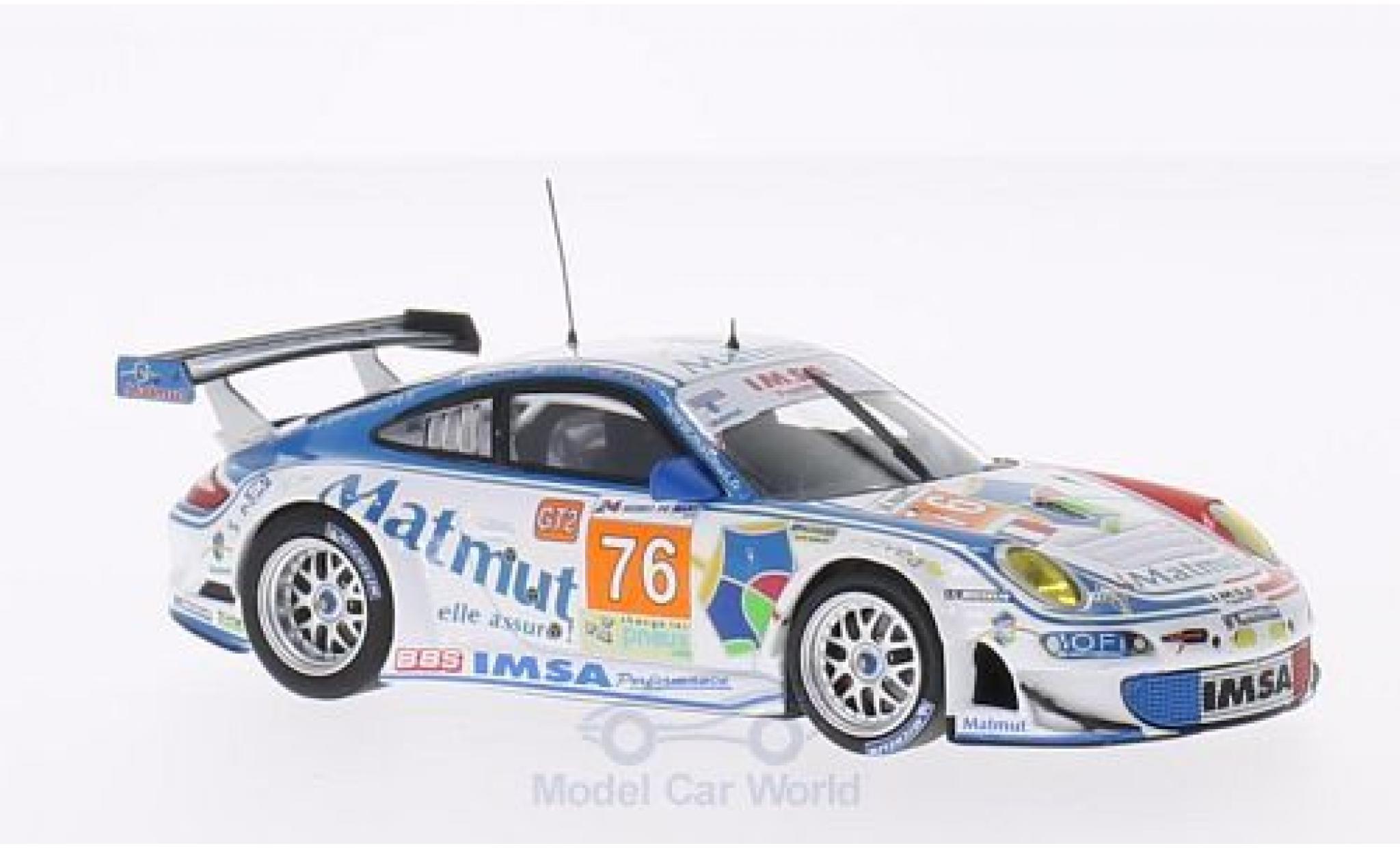Porsche 997 GT3 RSR 1/43 Minichamps 911  No.76 Imsa Performance Matmut Matmut 24h Le Mans 2010 R.Narac/P.Pilet/P.Long