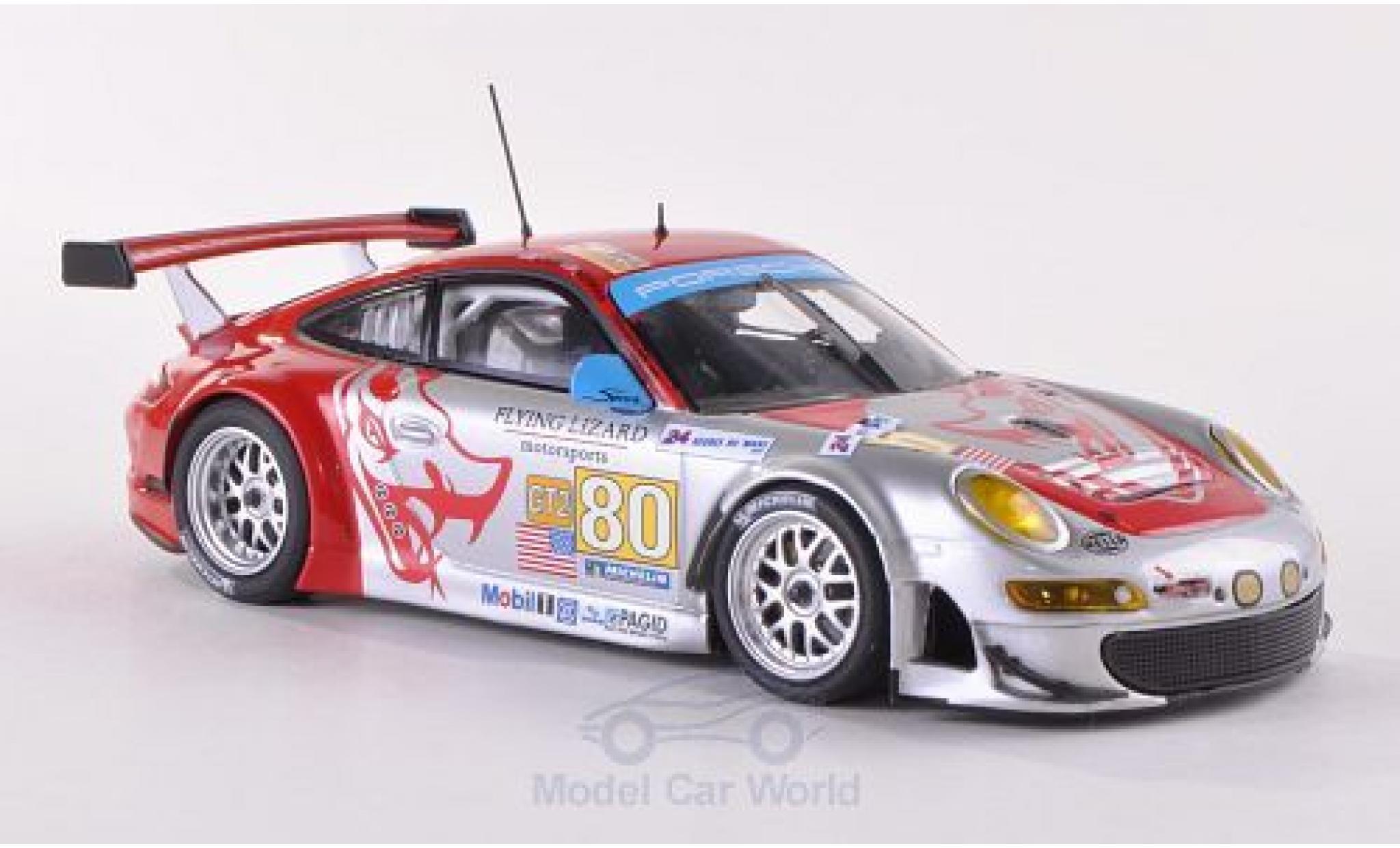 Porsche 997 GT3 RSR 1/43 Minichamps 911  No.80 Flying Lizard Motorsports Le Mans 24h Le Mans 2009 J.Bergmeister/S.Neiman/D.Law