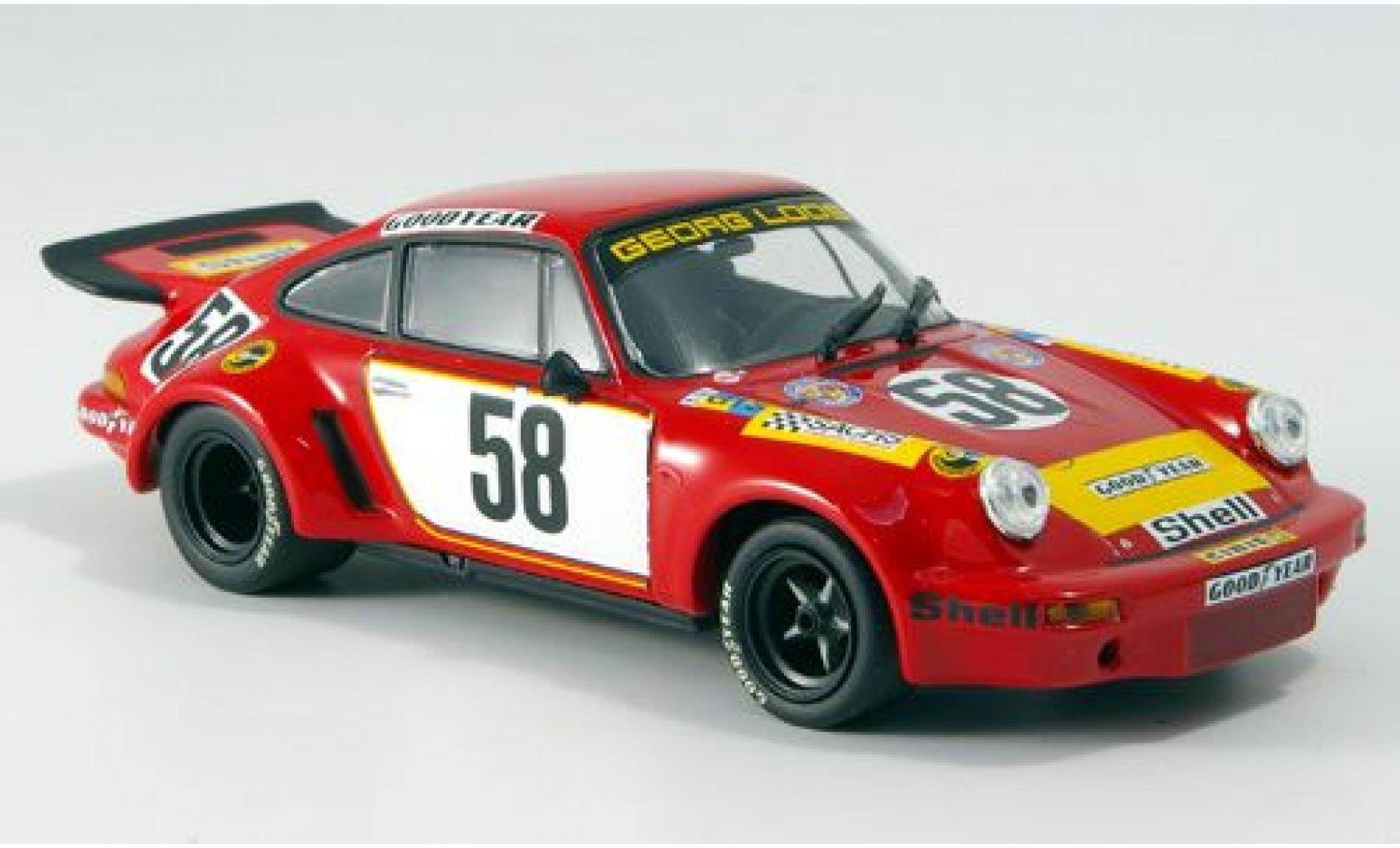 Porsche 911 1/43 Minichamps Carrera RSR 3.0 No.58 Gelo Racing Team 24h Le Mans 1975 J.Fitzpatrick/G.van Lennep/M.Schurti sans Vitrine