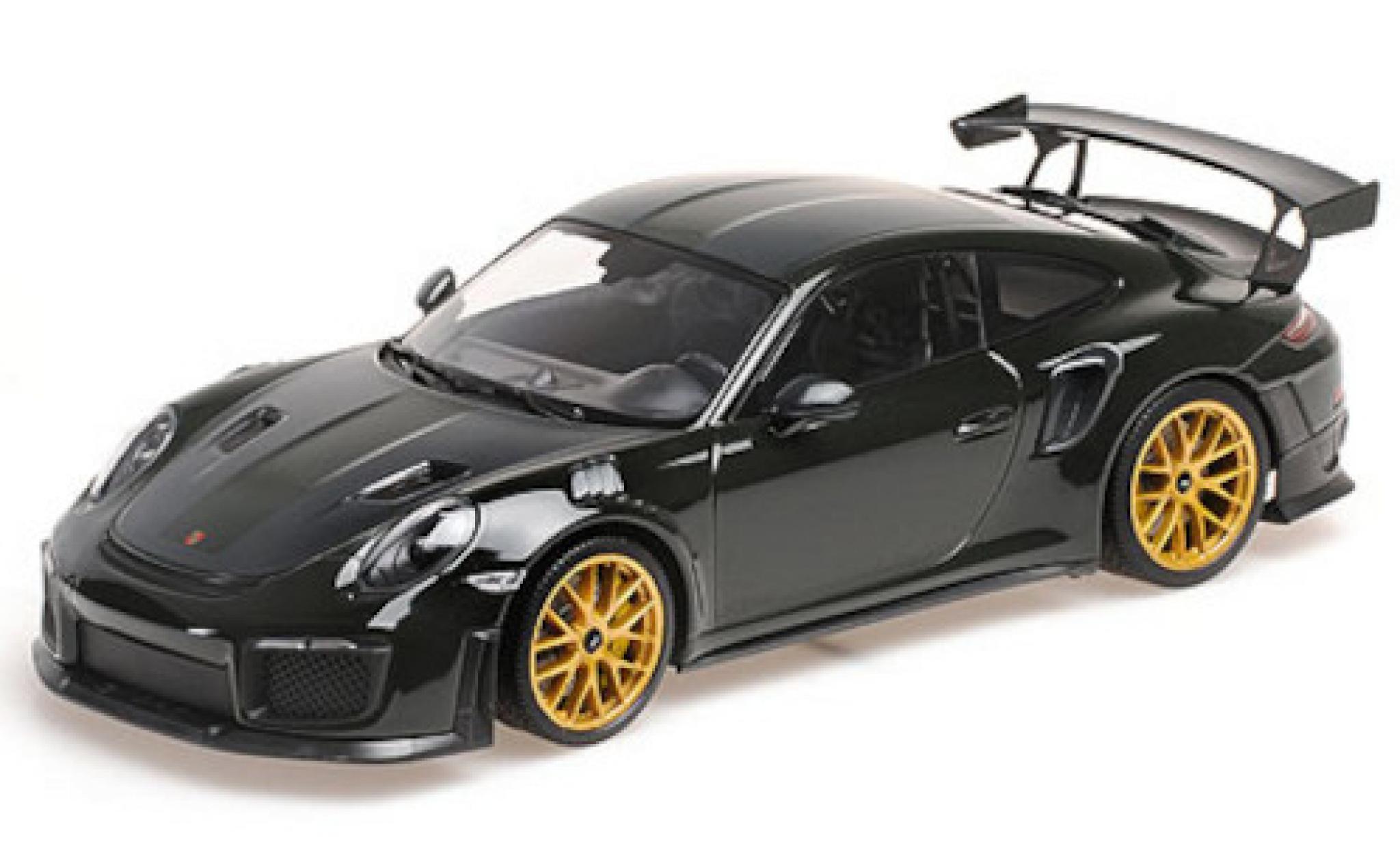 Porsche 991 GT2 RS 1/18 Minichamps 911 (.2) green/carbon 2018 avec Weissach Paket et doré Magnesium jantes