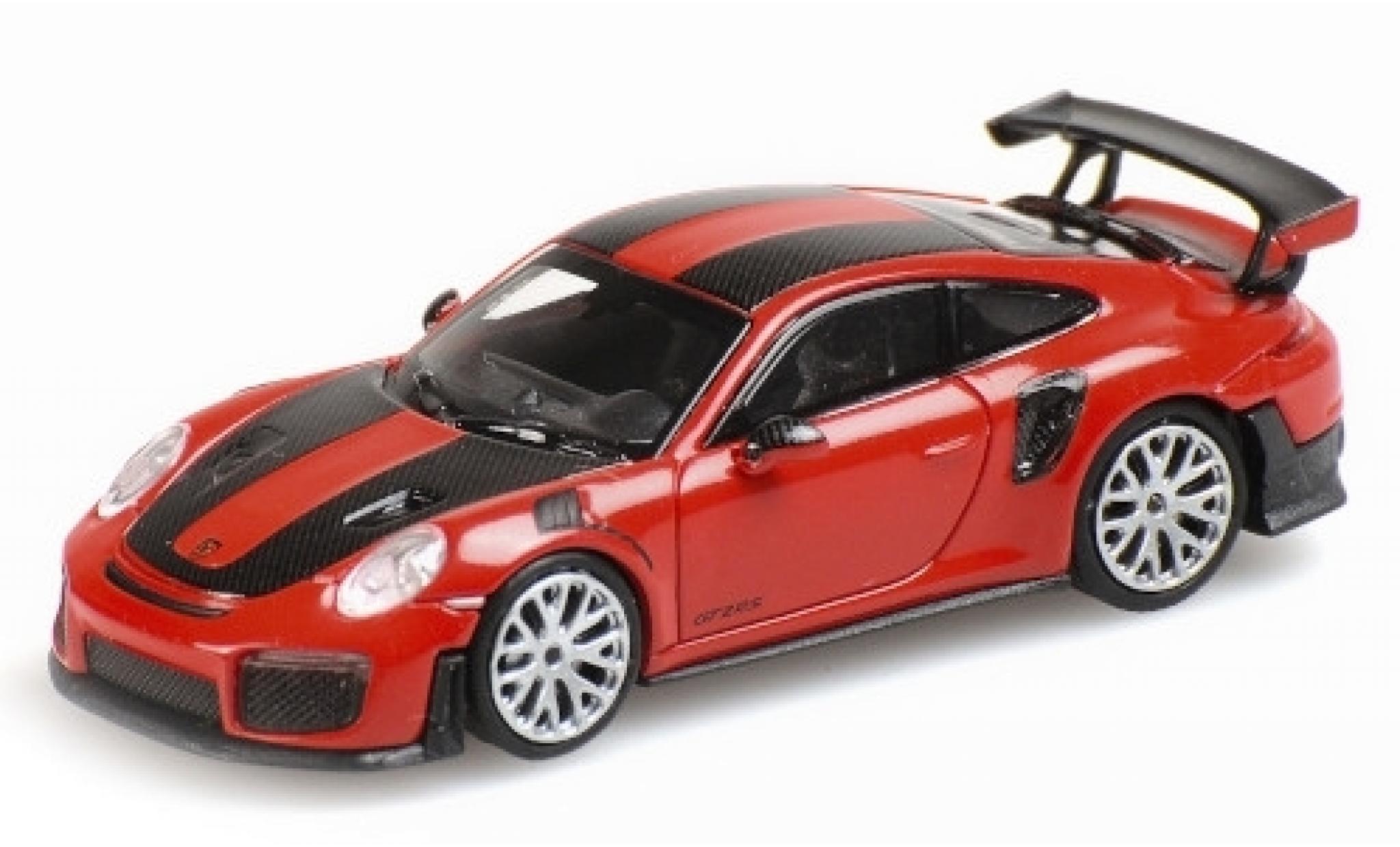 Porsche 991 GT2 RS 1/87 Minichamps 911 red 2018 avec Carbon-Streifen