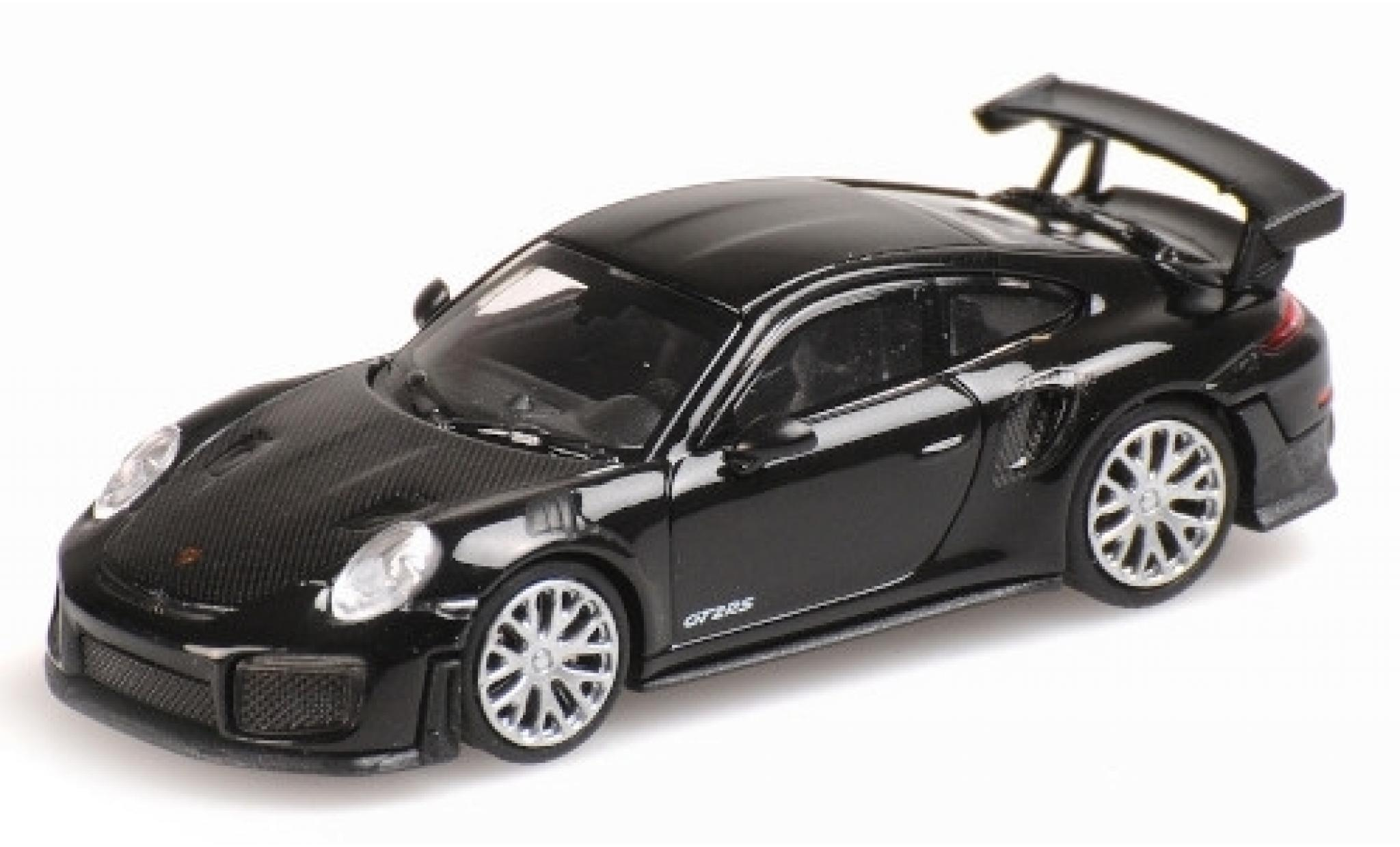 Porsche 991 GT2 RS 1/87 Minichamps 911 black 2018 avec Carbon-Capot