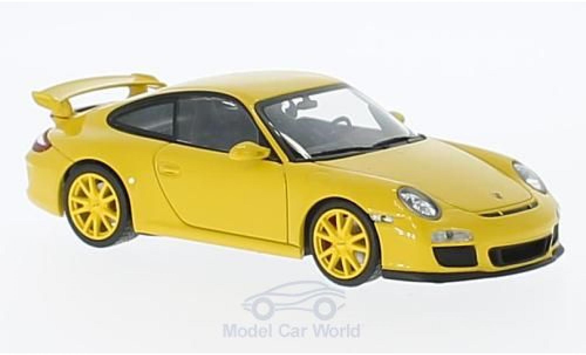 Porsche 997 SC 1/43 Minichamps GT3 jaune 2009 mit jauneen Felgen