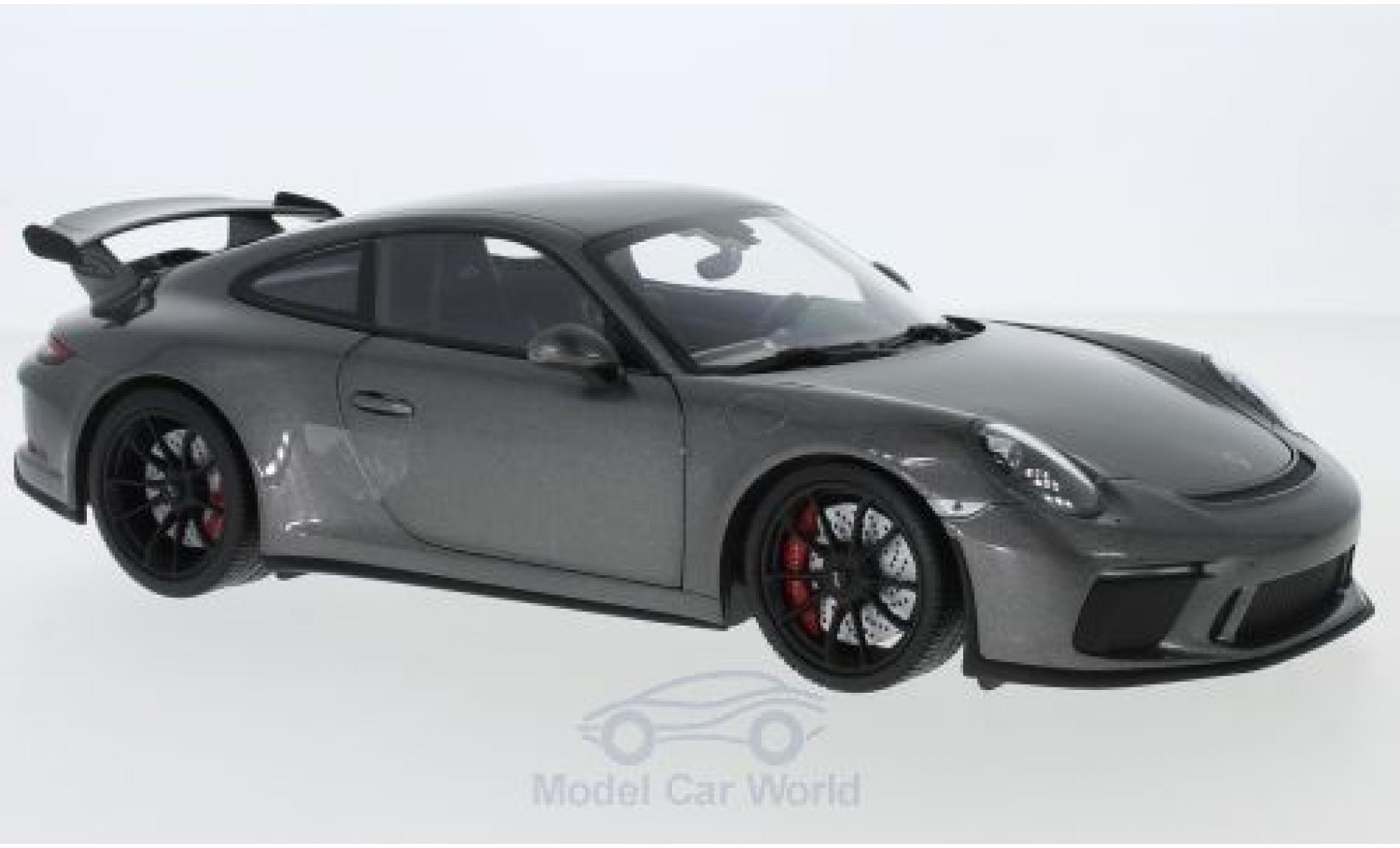 Porsche 991 GT3 1/18 Minichamps 911 metallise grise 2017
