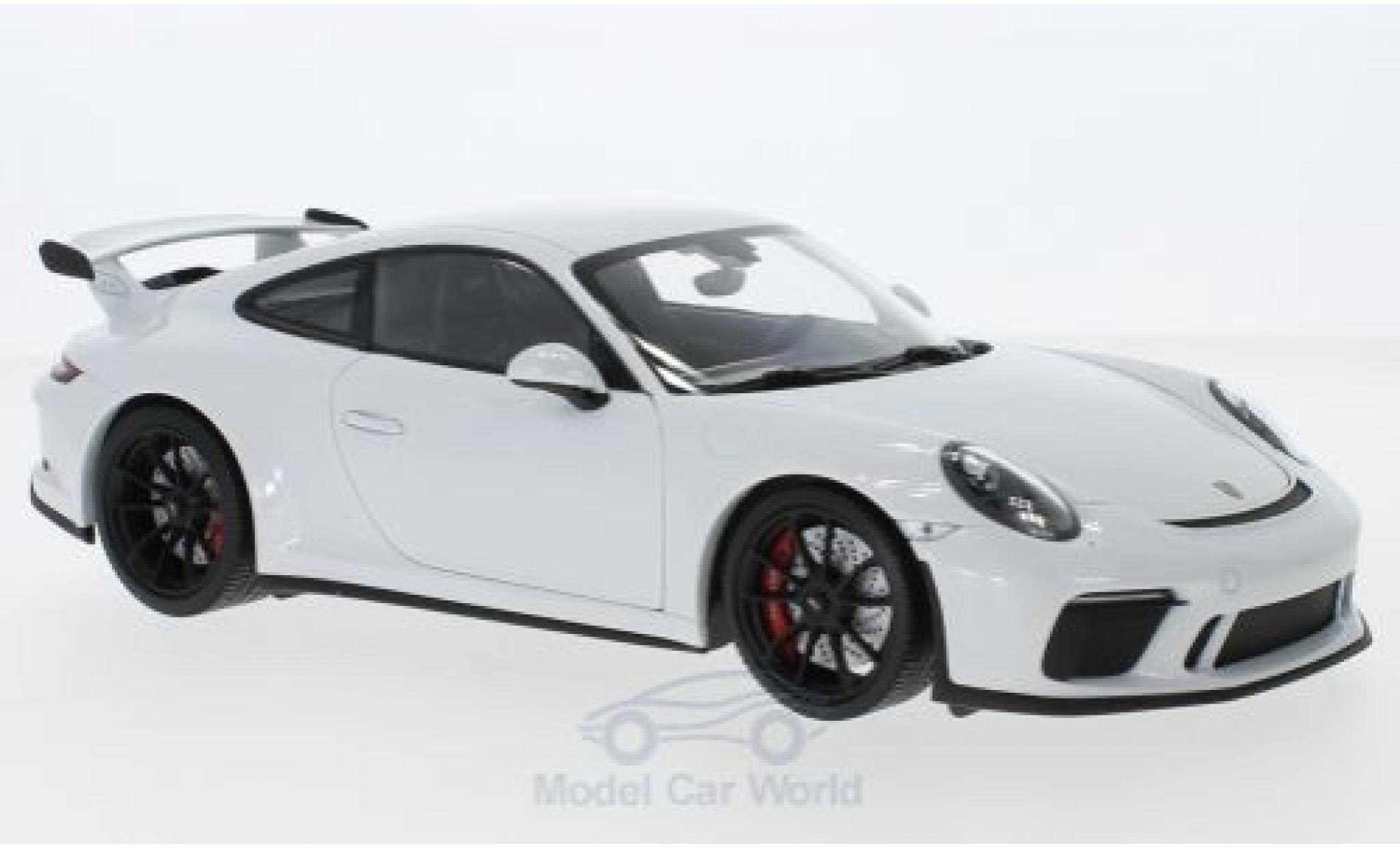 Porsche 911 1/18 Minichamps GT3 métallisé blanche 2017