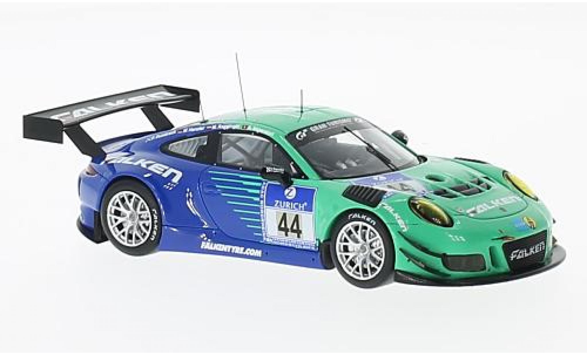 Porsche 991 GT3 R 1/43 Minichamps 911  No.44 Falken Motorsports 24h Nürburgring 2016 W.Henzler/P.Dumbreck/M.Ragginger/A.Imperatori
