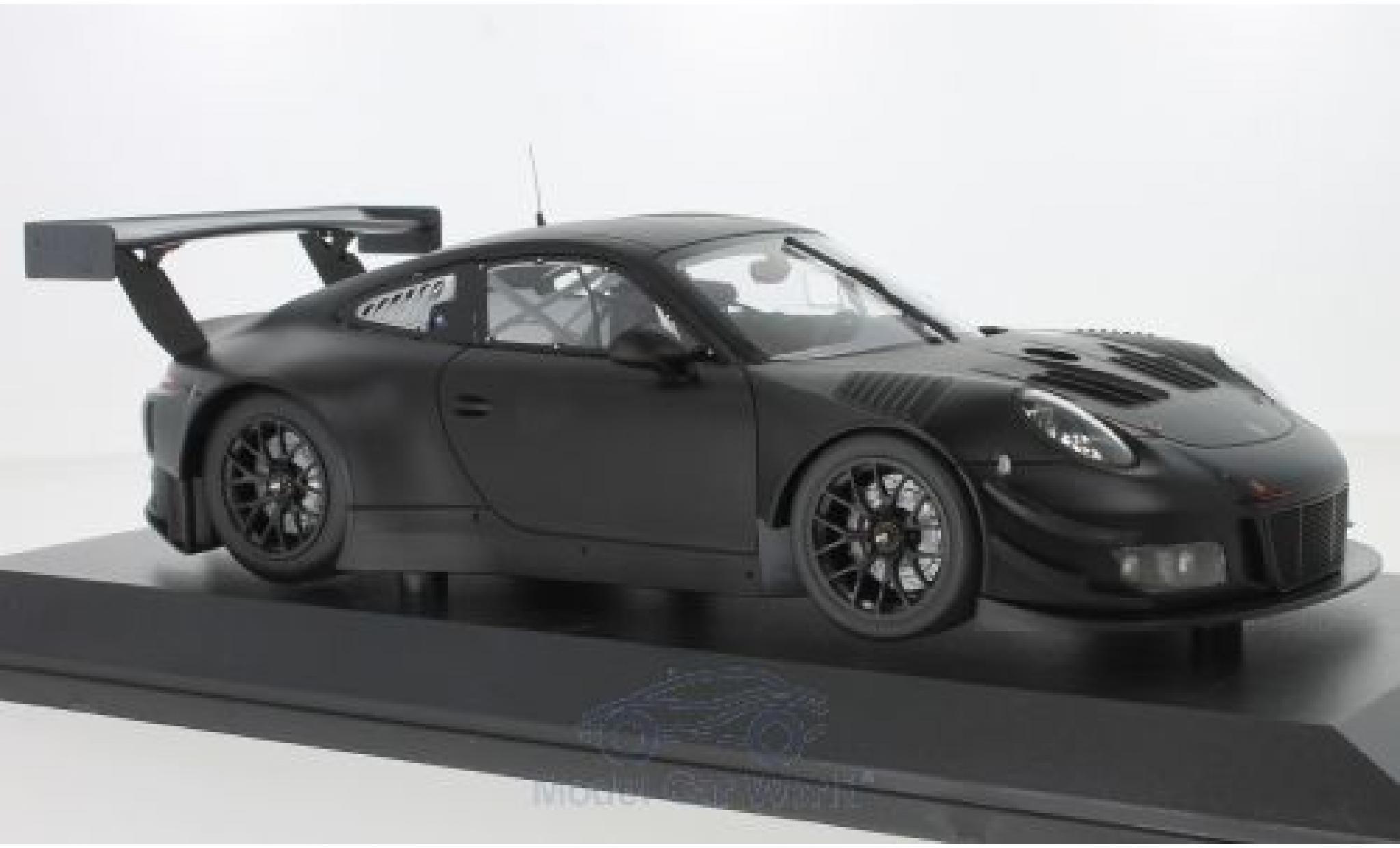 Porsche 911 1/18 Minichamps GT3 R matt-noire 2018 Plainbody Version