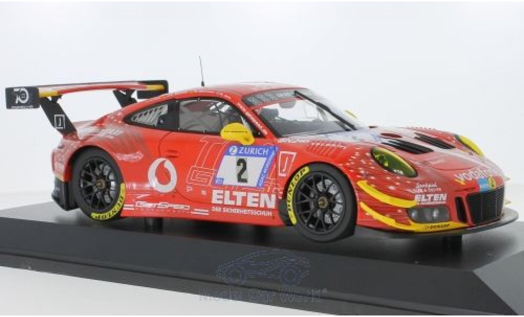 Porsche 911 1/18 Minichamps GT3 R No.2 Gigaspeed Team Getspeed Vodafone 24h Nürburgring 2018 S.Jans/M.Böckmann/J.E.Slooten/L.Luhr