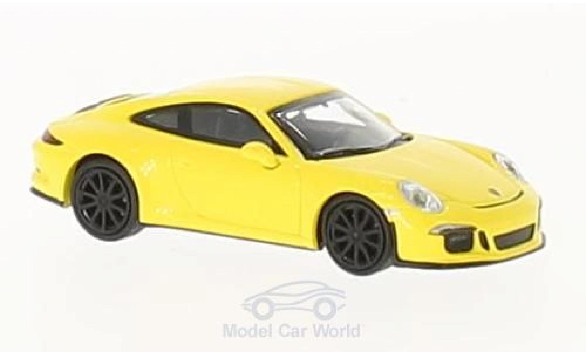 Porsche 991 SC 1/87 Minichamps R jaune 2016 mit noireen Felgen