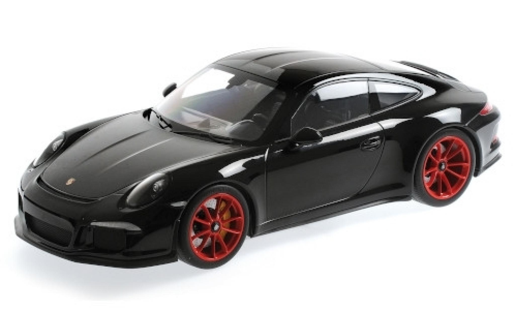 Porsche 991 R 1/12 Minichamps 911 black 2016 rouge jantes