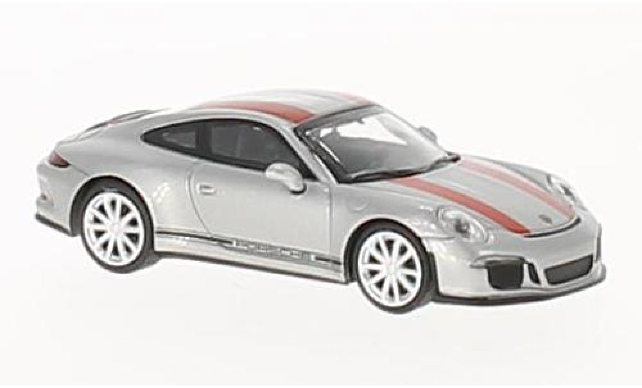 Porsche 991 R 1/87 Minichamps 911 grise/rouge 2016