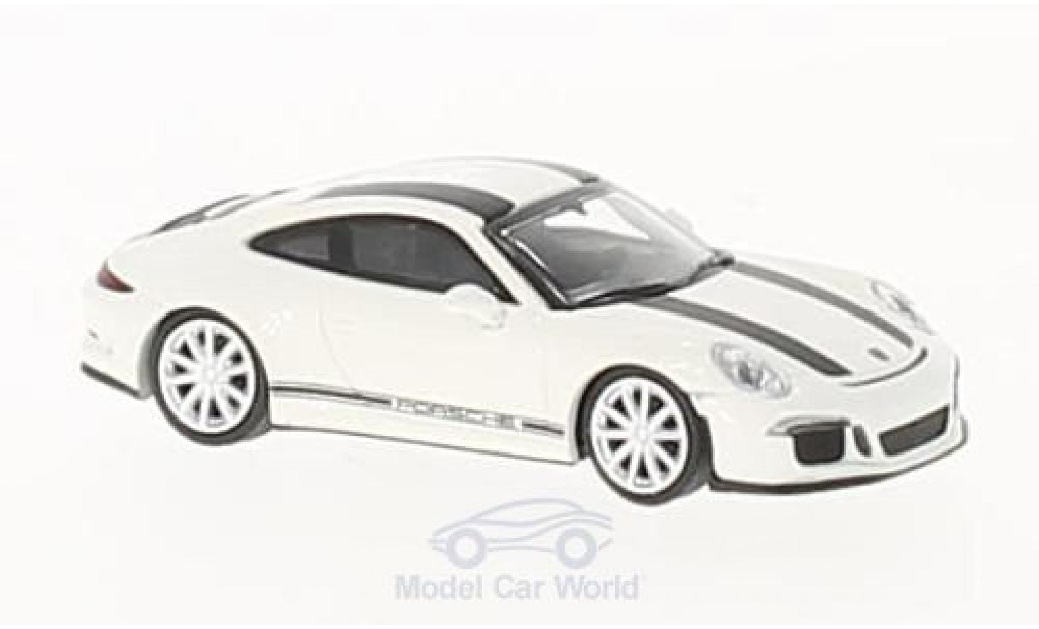 Porsche 991 R 1/87 Minichamps 911 blanche/noire 2016