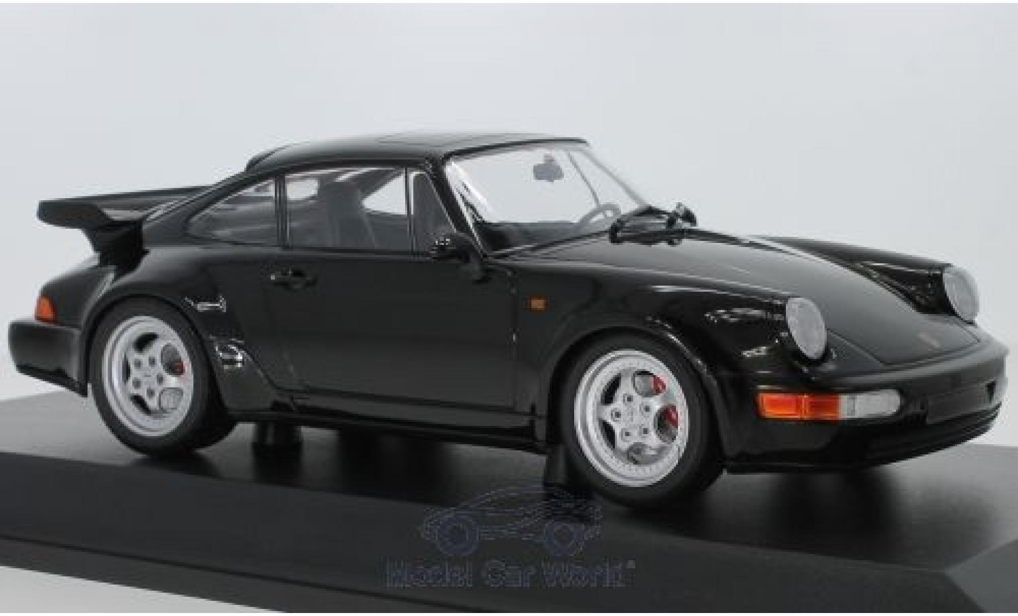 Porsche 911 1/18 Minichamps Turbo (964) noire 1990