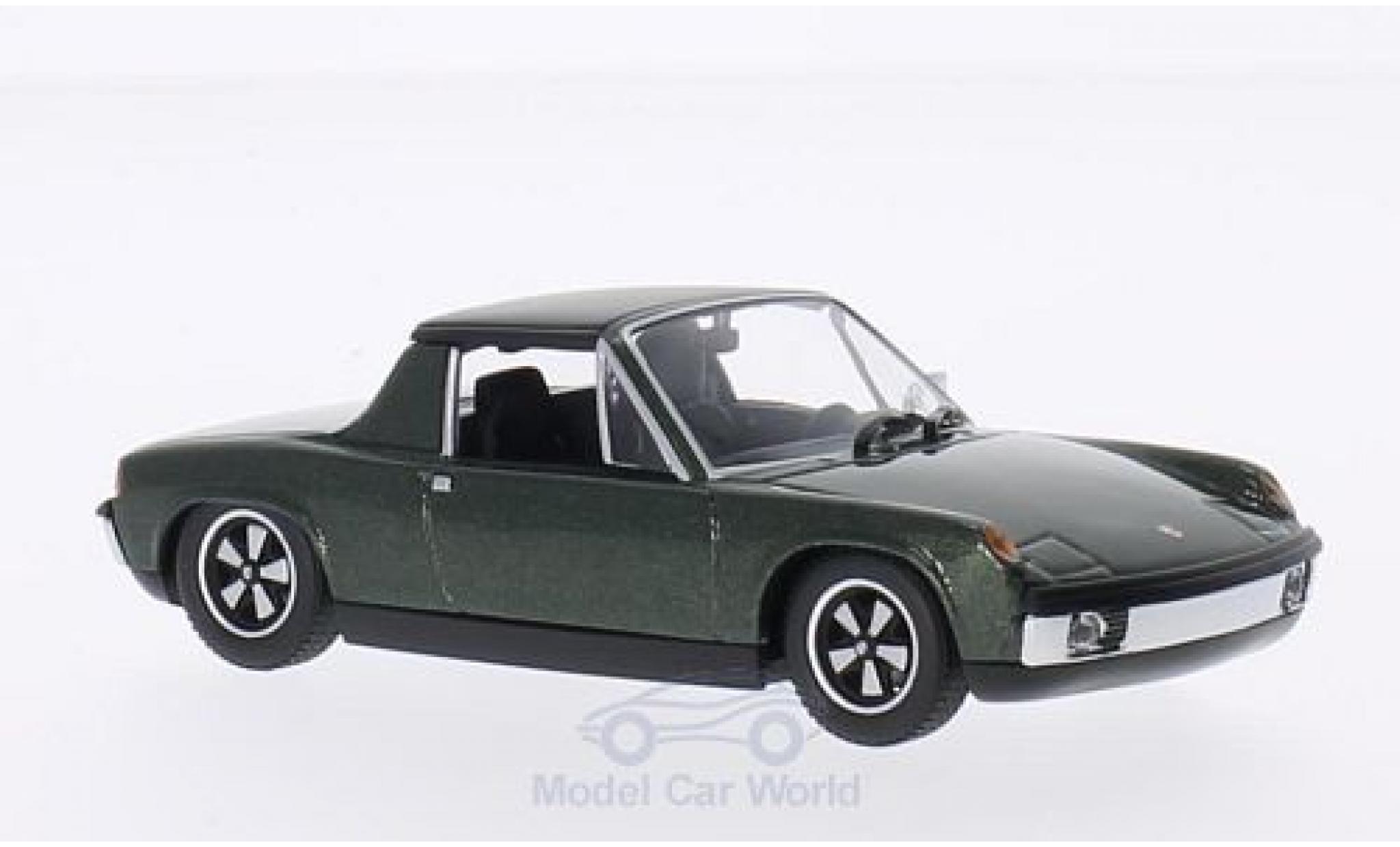 Porsche 914 1/43 Minichamps /6 metallise verte 1970