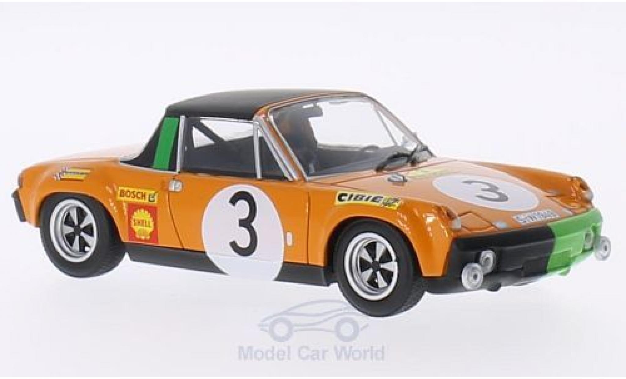 Porsche 914 1/43 Minichamps /6 No.3 Marathon de la Route 1970 B.Waldegard/J.Andersson/Chasseuil
