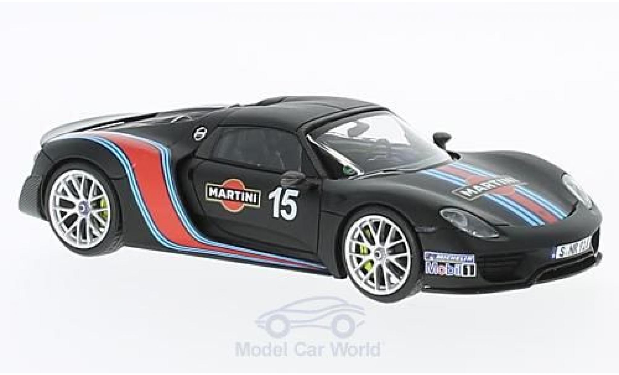 Porsche 918 2013 1/43 Minichamps Spyder Weissach-Package matt-noire Martini 2013