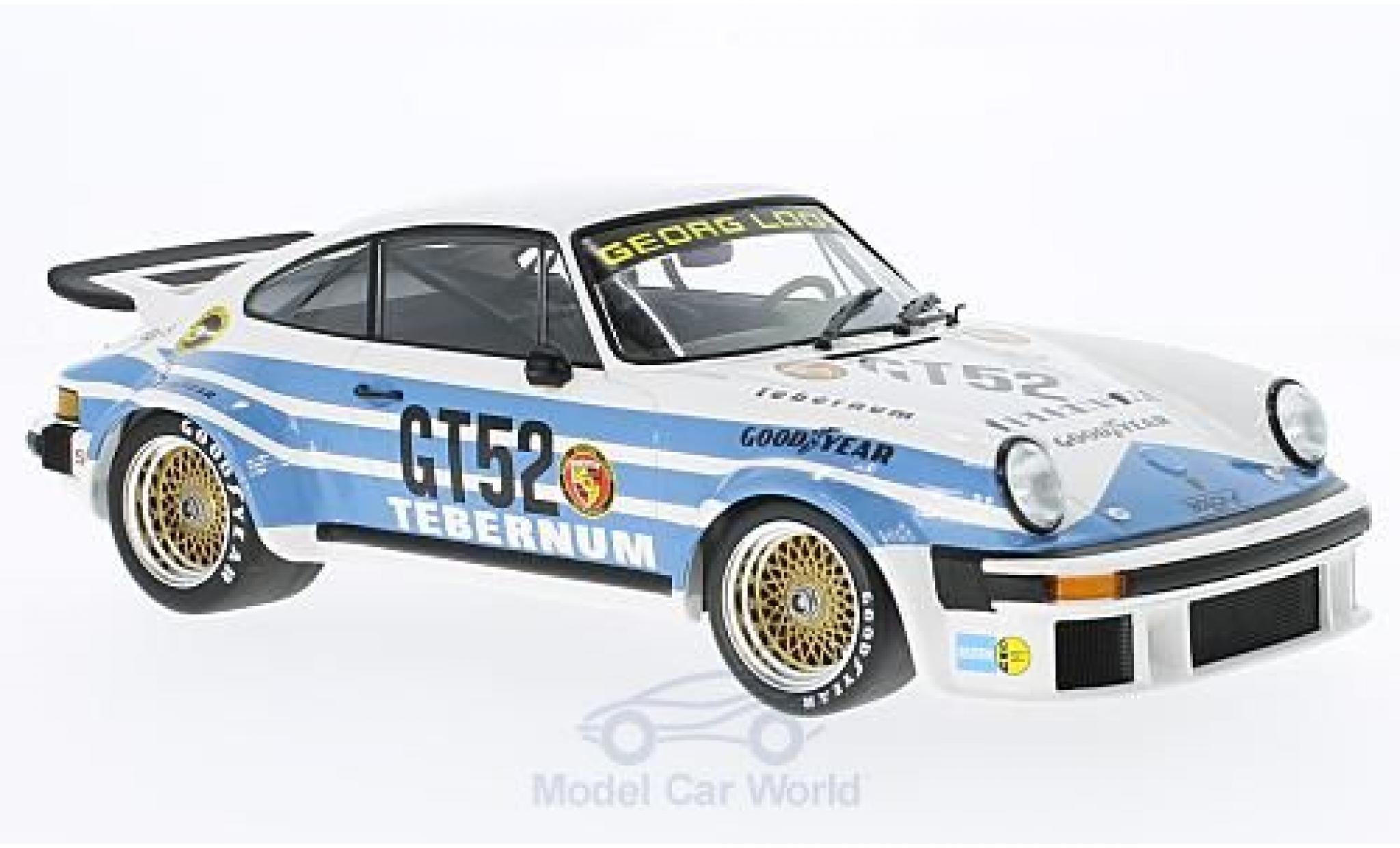Porsche 934 1/18 Minichamps No.52 Tebernum Racing Team 300 Km Nürburgring 1976 T.Schenken