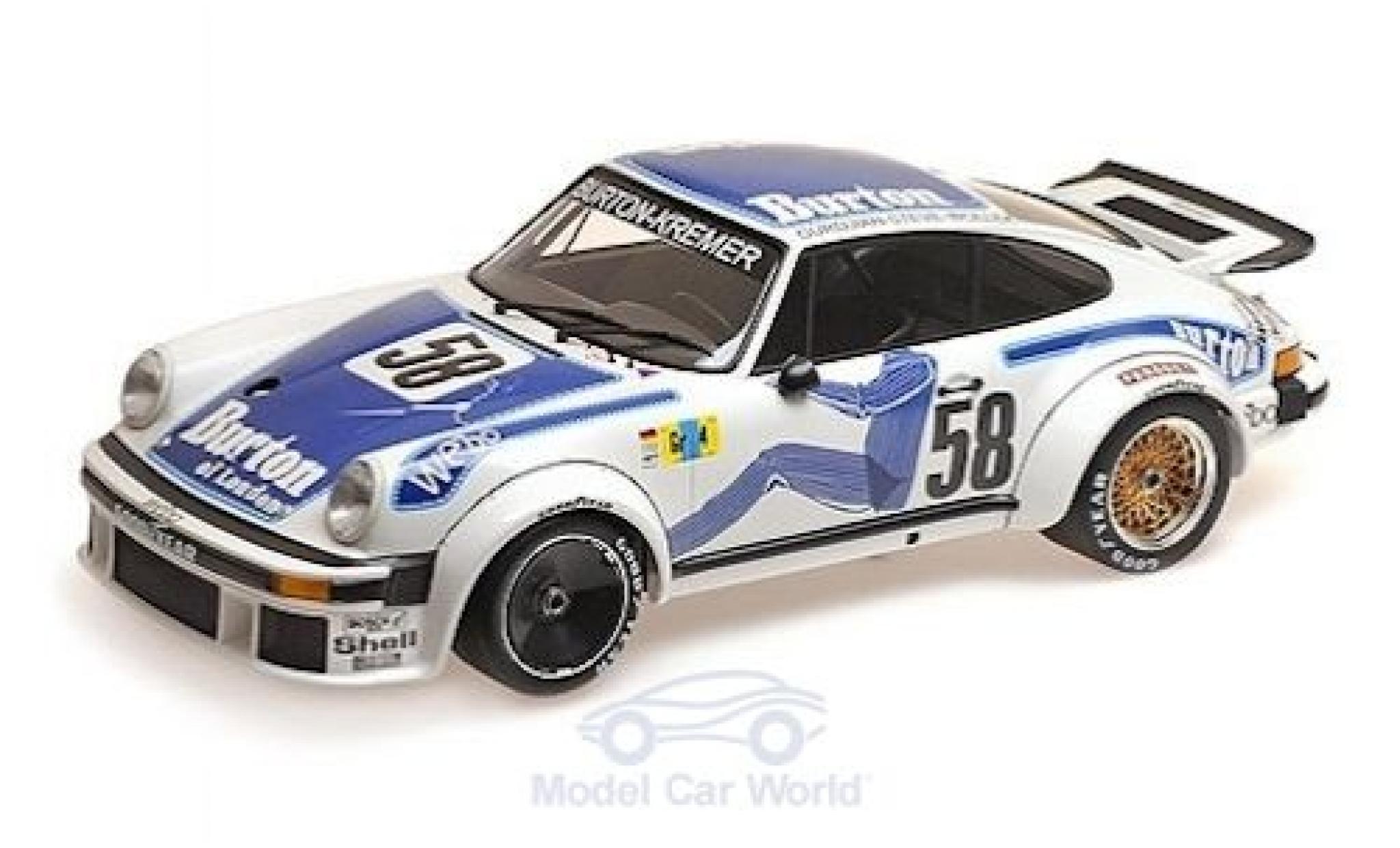 Porsche 934 1/12 Minichamps No.58 -Kremer Racing Burton Le Mans 24h Le Mans 1977 B.Wollek/P.Gurdjian/Steve