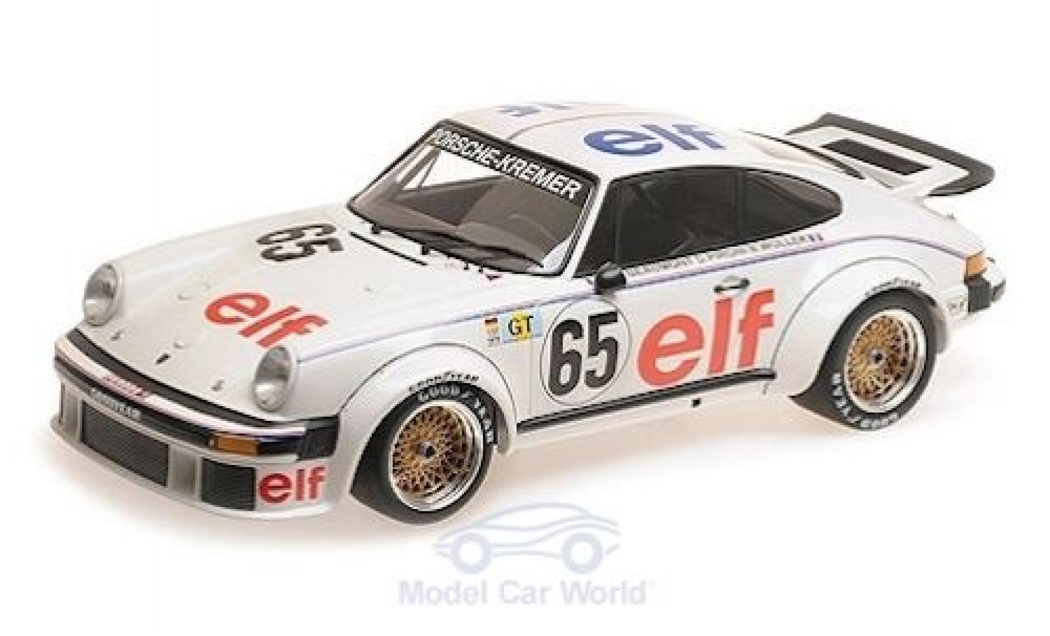 Porsche 934 1976 1/12 Minichamps No.65 -Kremer Racing Elf 24h Le Mans B.Wollek/D.Pironi/M.-C.Beaumont