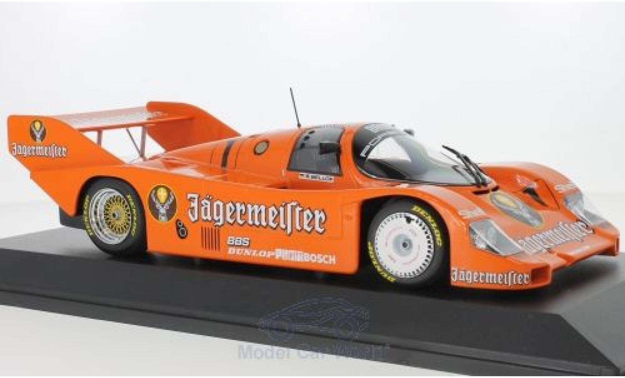 Porsche 956 1/18 Minichamps K No.1 Brun Jägermeister 200 Meilen Norisring 1984 S.Bellof