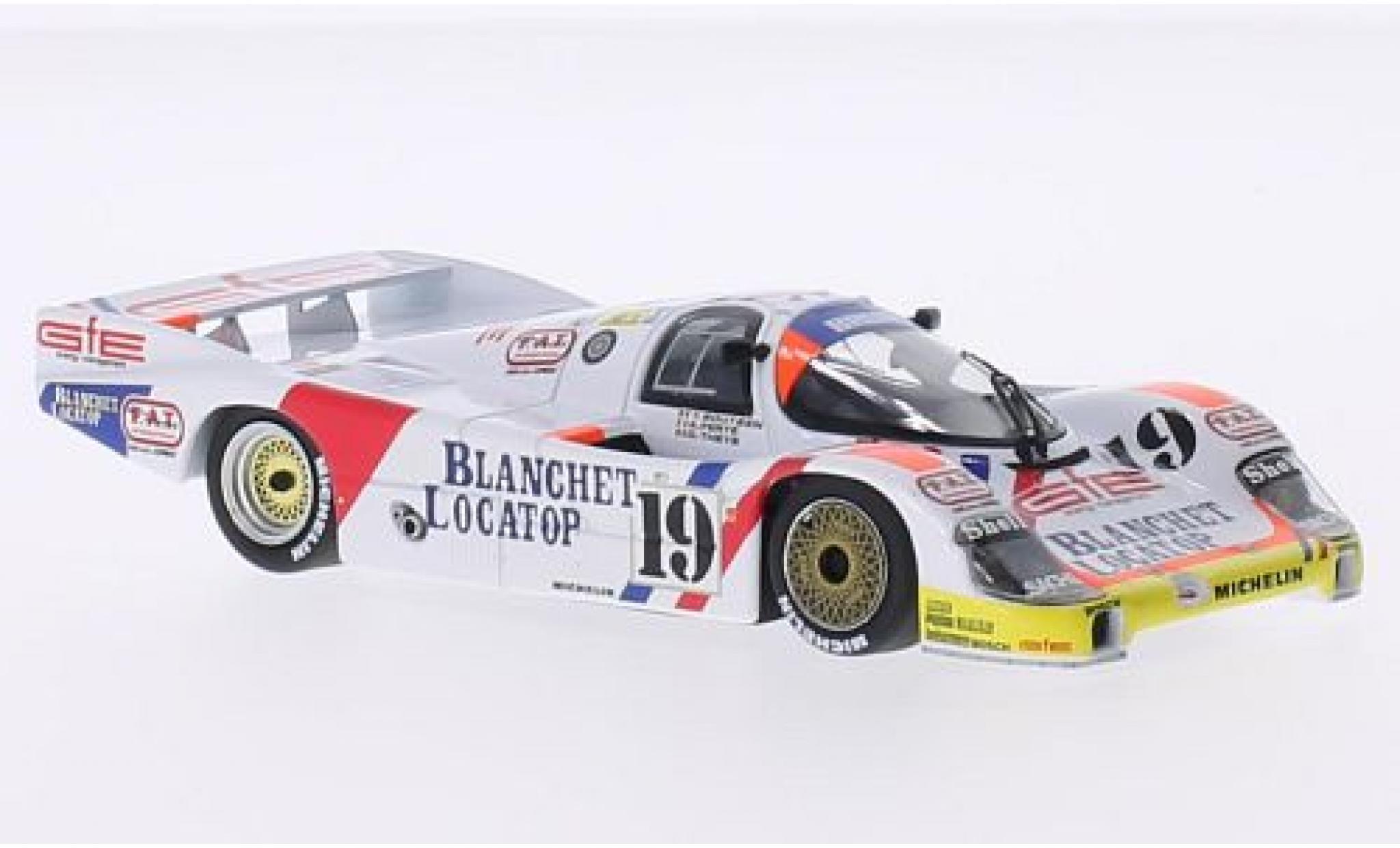 Porsche 956 1986 1/43 Minichamps L No.19 Brun Motorsport Blanchet Locatop 24h Le Mans T.Boutsen/D. Theys/A.Ferte