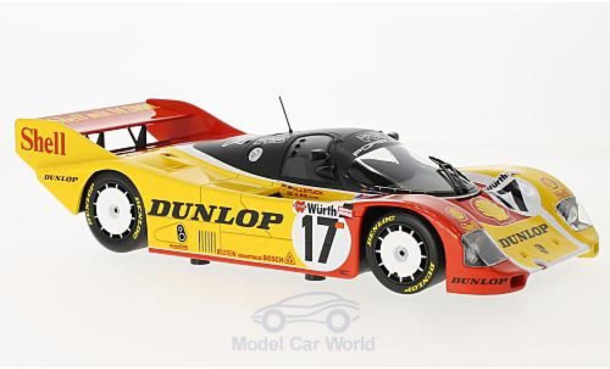 1987 Porsche 962 C 962c Brun 1000 km nurburgring mass Larrauri 1:18 Minichamps