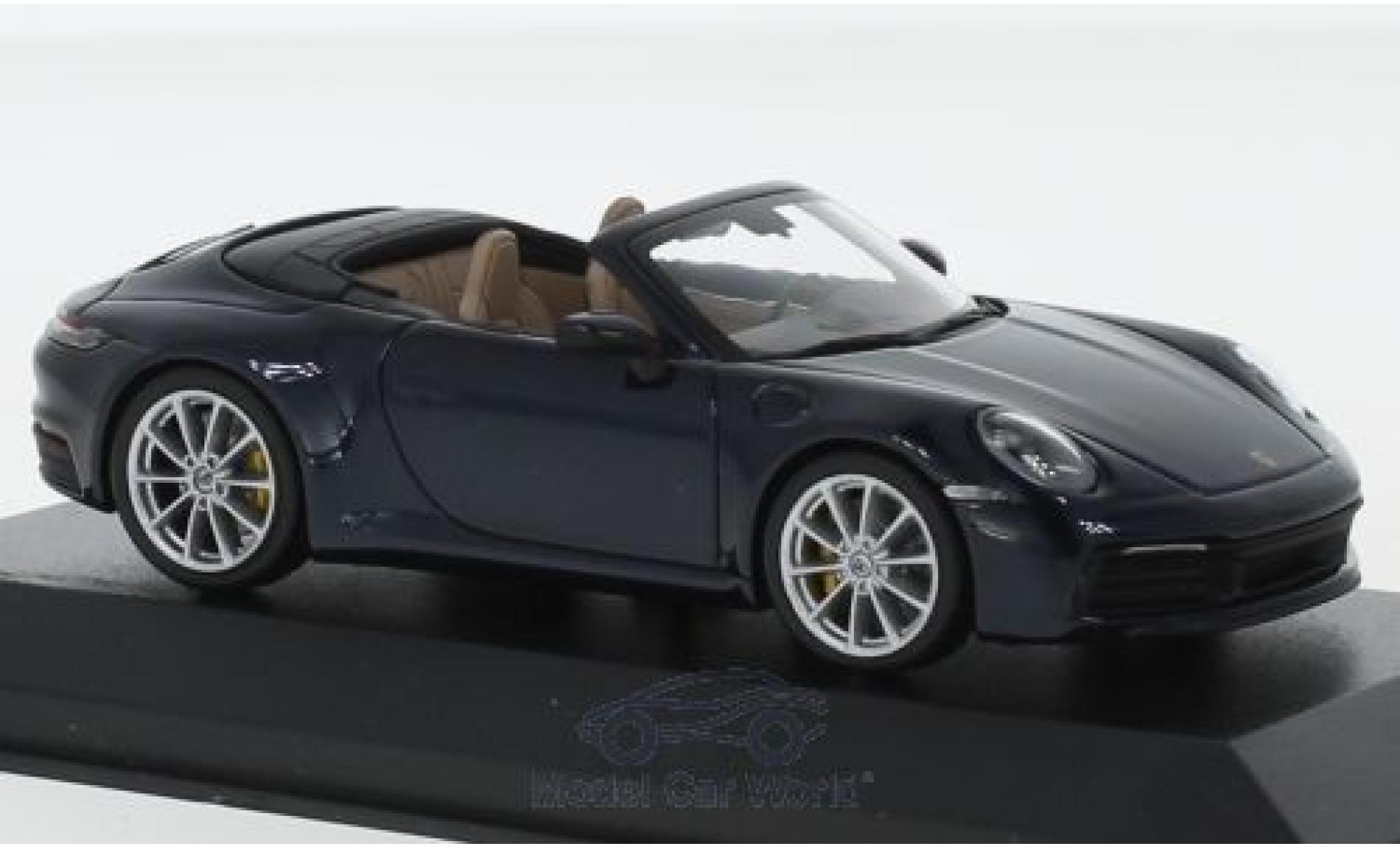 Porsche 992 4S 1/43 Minichamps Carrera metallise bleue
