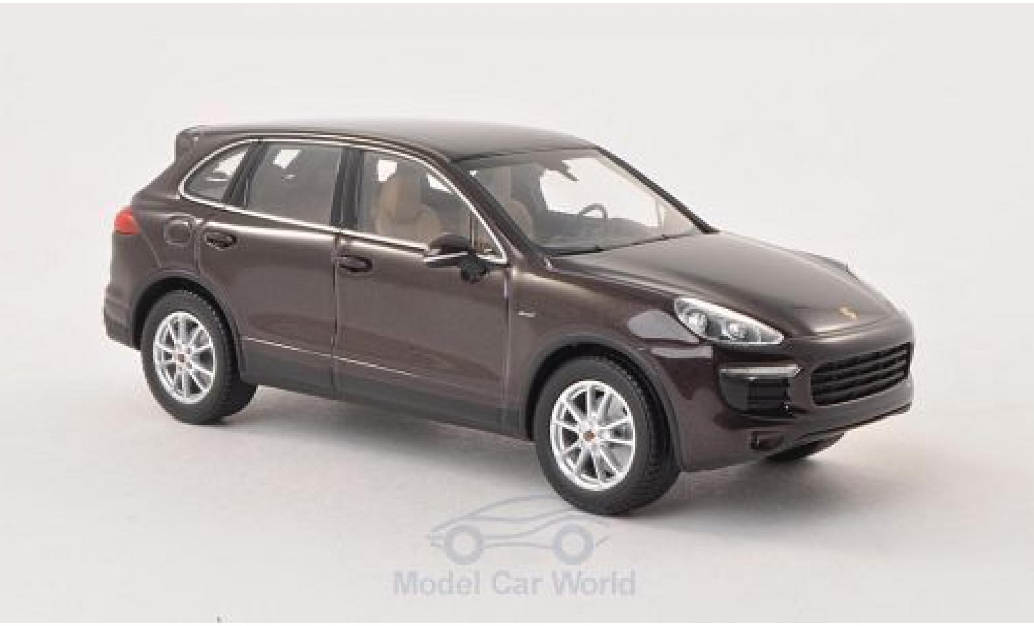 Porsche Cayenne 1/43 Minichamps métallisé marron 2014 Diesel (92A)