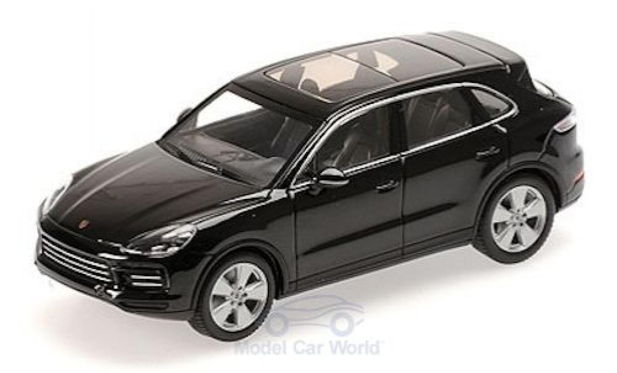 Porsche Cayenne 1/43 Minichamps metallise noire 2017