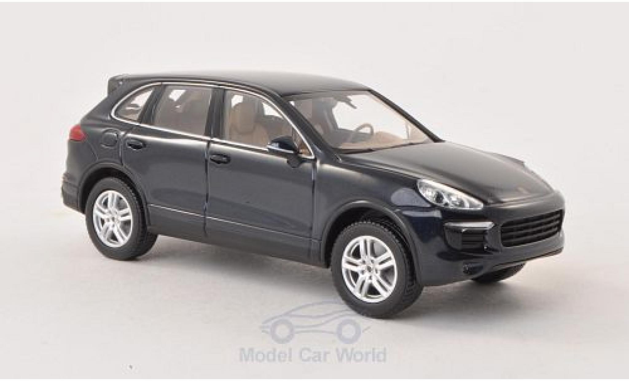 Porsche Cayenne 1/43 Minichamps S (92A) metallic blue 2014 ohne Vitrine