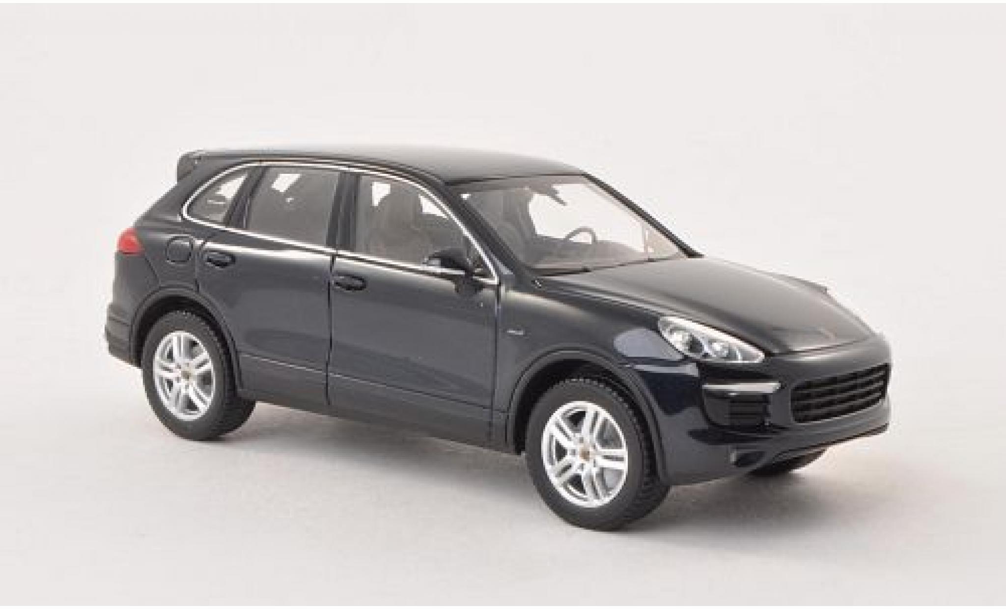 Porsche Cayenne S 1/43 Minichamps Diesel (92A) metallise bleue 2014