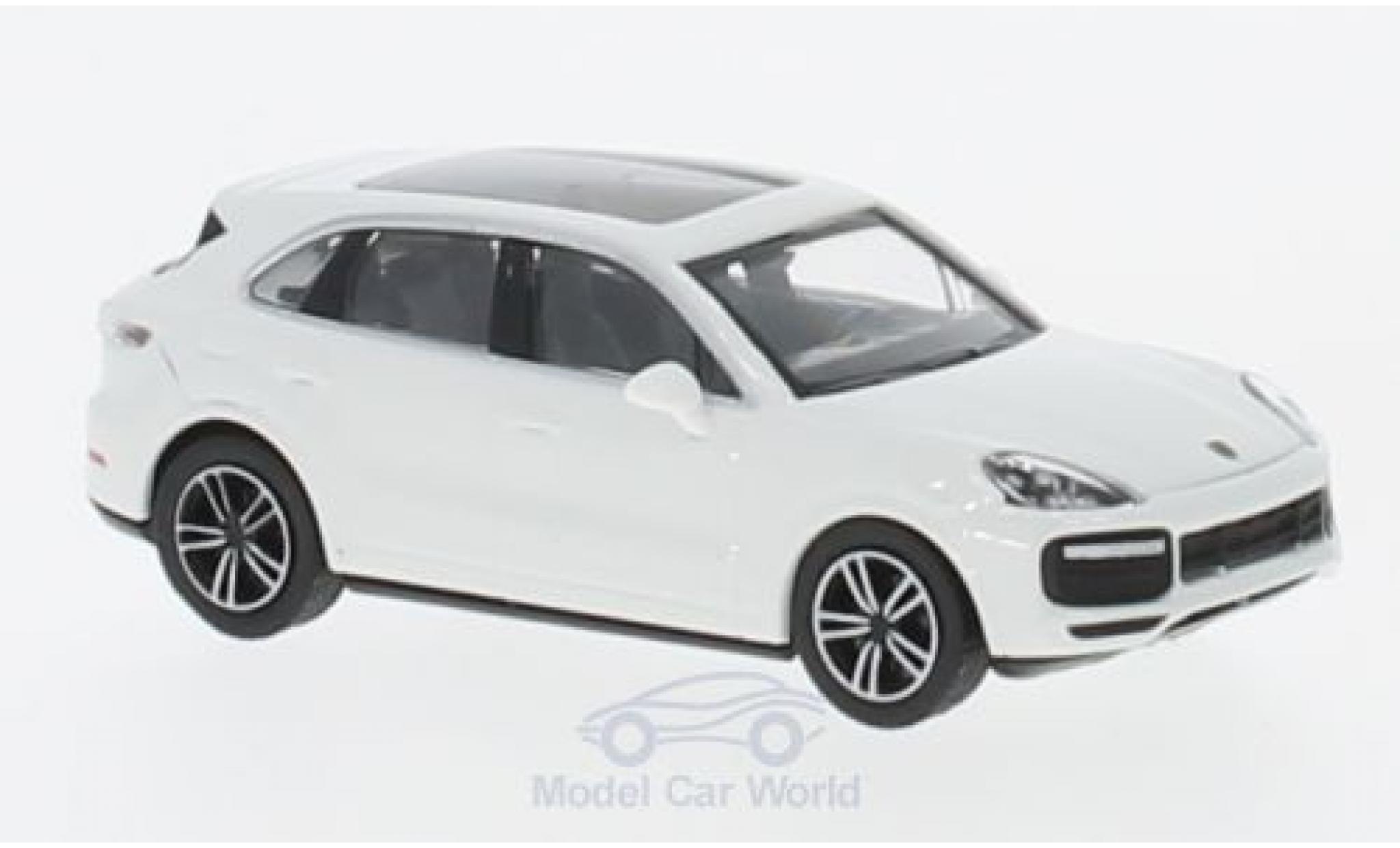 Porsche Cayenne Turbo 1/87 Minichamps blanche 2017