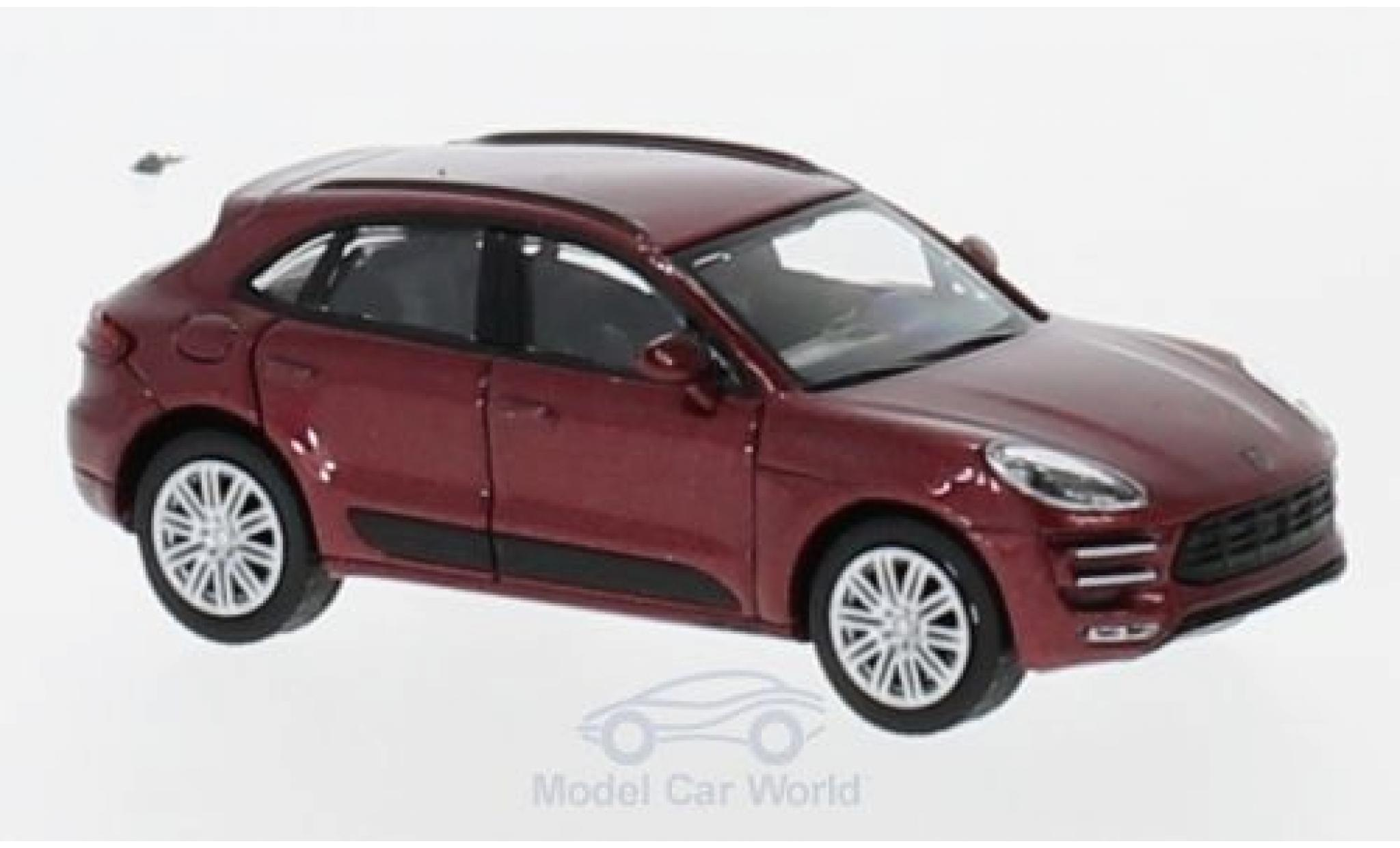 Porsche Macan Turbo 1/87 Minichamps metallise rouge 2013