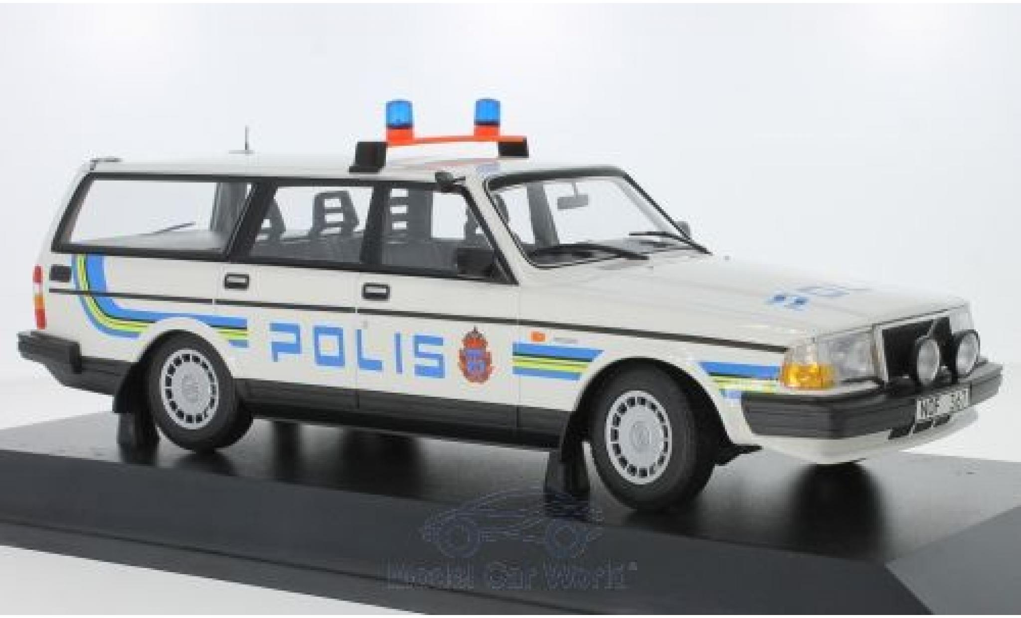 Volvo 240 1/18 Minichamps GL Break Polis Sweden 1986