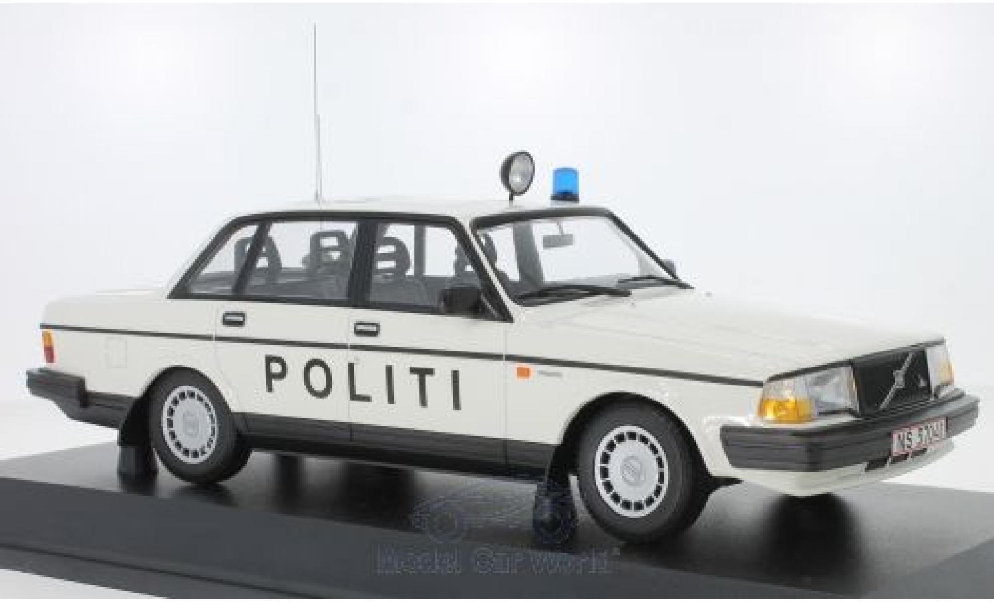 Volvo 240 1/18 Minichamps GL Politi Danmark 1986