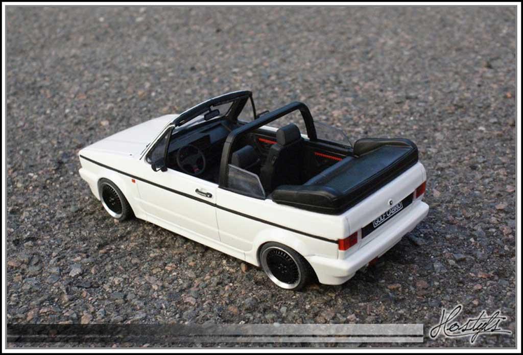 Volkswagen Golf 1 GTI 1/18 Ottomobile cabriolet blanche Schmidt Edition