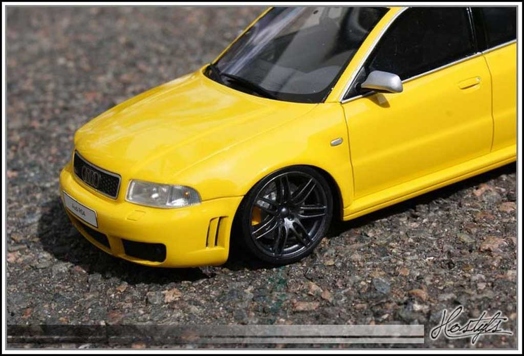 Audi RS4 1/18 Ottomobile B5 - Jantes 4 B7 anthracite tuning miniature