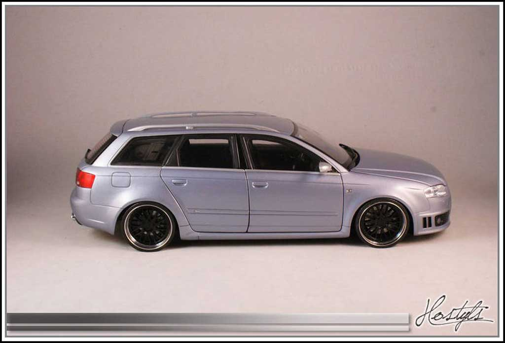 Audi RS4 1/18 Kyosho B7 on BBS tuning miniature
