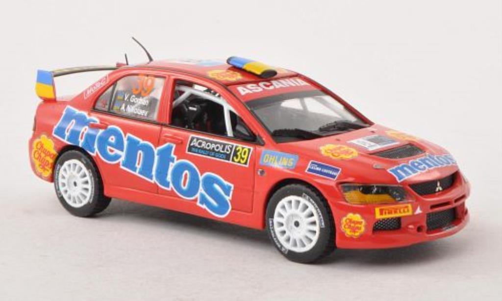 Mitsubishi Lancer 1/43 Vitesse Evo. IX No.39 Mentos PWRC Acropolis Rally 2012 /A.Nikolaev miniature