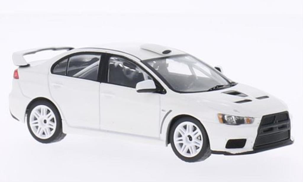 Mitsubishi Lancer 1/43 IXO Evo X 2011 Rally Spec blanche 2011 miniature