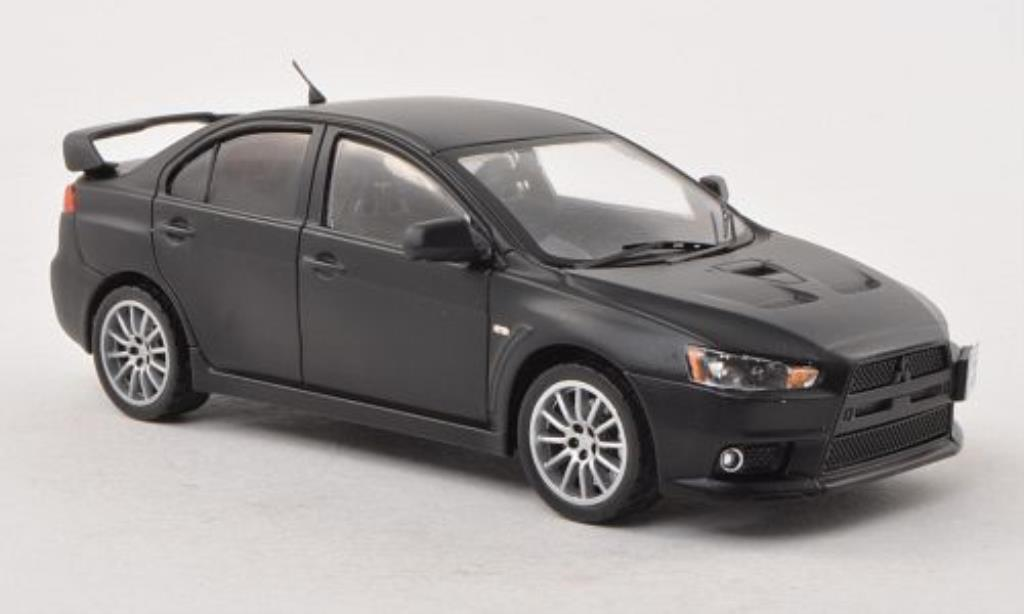 mitsubishi lancer evo x matt black nurburgring test 2007 ixo diecast model car 1 43 buy sell. Black Bedroom Furniture Sets. Home Design Ideas