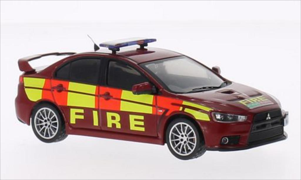 Mitsubishi Lancer 1/43 IXO Evo X RHD Feuerwehr 2011 miniature