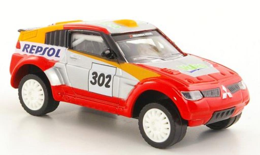 Mitsubishi Pajero Evolution 1/43 Norev No.302 Repsol - Valeo miniature