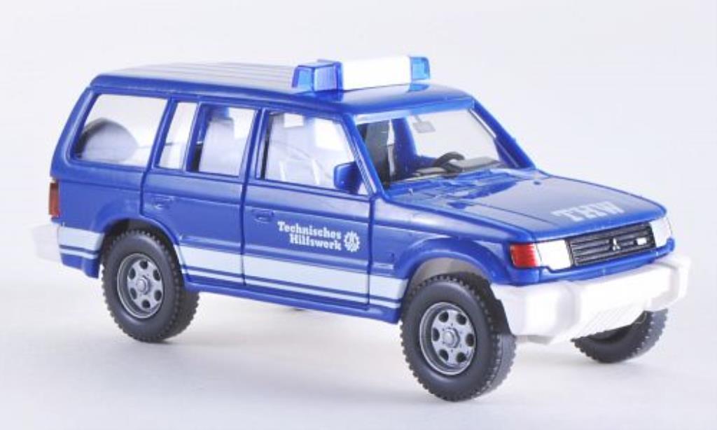 Mitsubishi Pajero 1/87 Wiking THW miniature