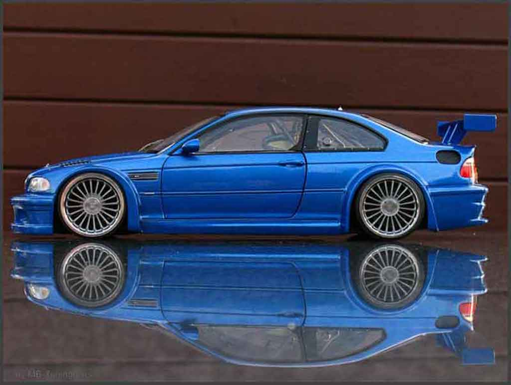bmw m3 e46 gtr blau felgen 20 zoll minichamps modellauto 1. Black Bedroom Furniture Sets. Home Design Ideas