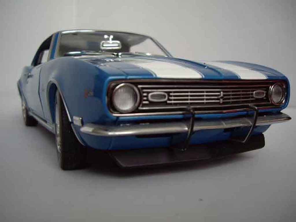 Chevrolet Camaro Z28 1/18 Ertl dz 302 blue 1969 diecast model cars