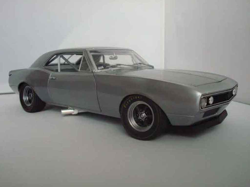 Chevrolet Camaro Z28 1/18 GMP brushed aluminum grey 1967 diecast model cars