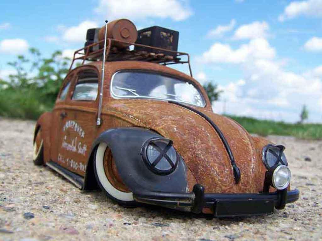 Volkswagen Kafer 1/18 Burago coccinelle kafer ratte tuning miniature