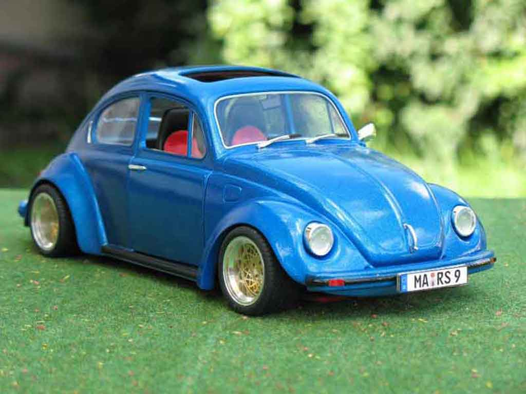 Volkswagen Kafer 1/18 Solido coxinelle bleue jantes bbs tuning miniature